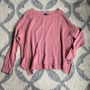 American Eagle Blush Pink Dolman Knit Sweater